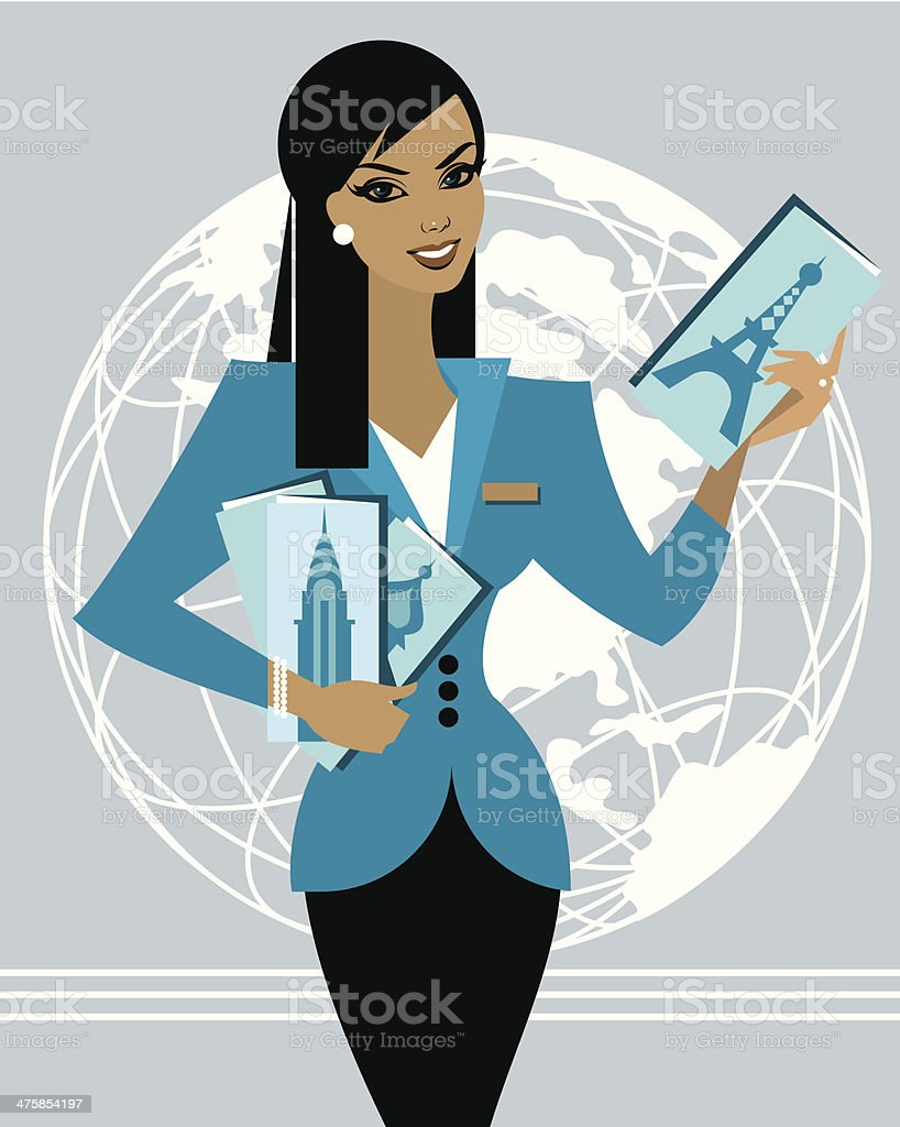 Travel Agent C vector art illustration