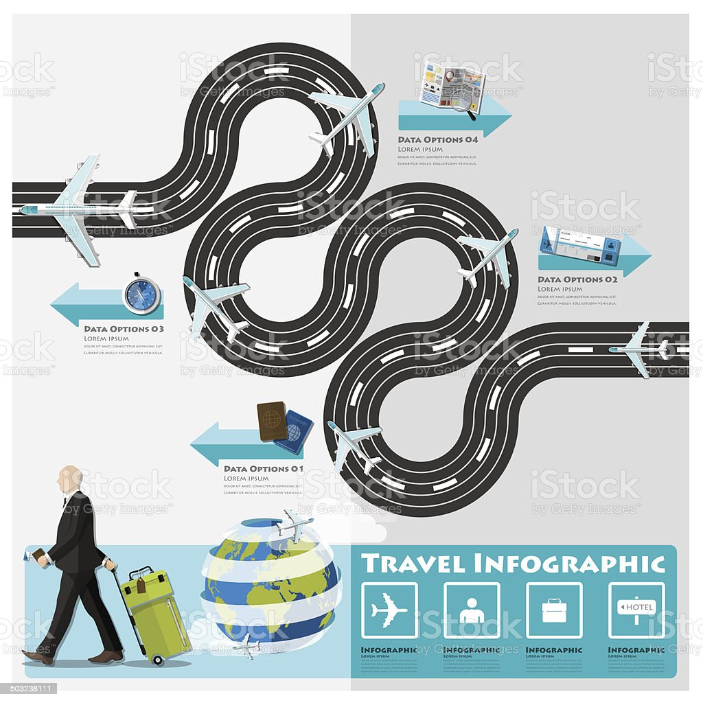 Travel And Journey Business Infographic vector art illustration