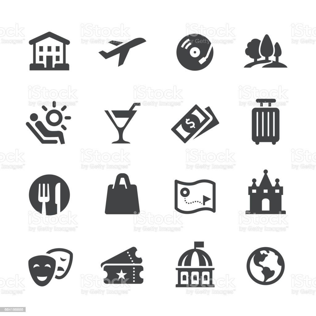 Travel and Leisure Icons - Acme Series vector art illustration