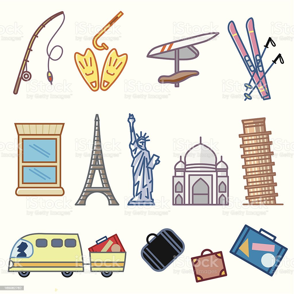 Travel and Sports royalty-free stock vector art