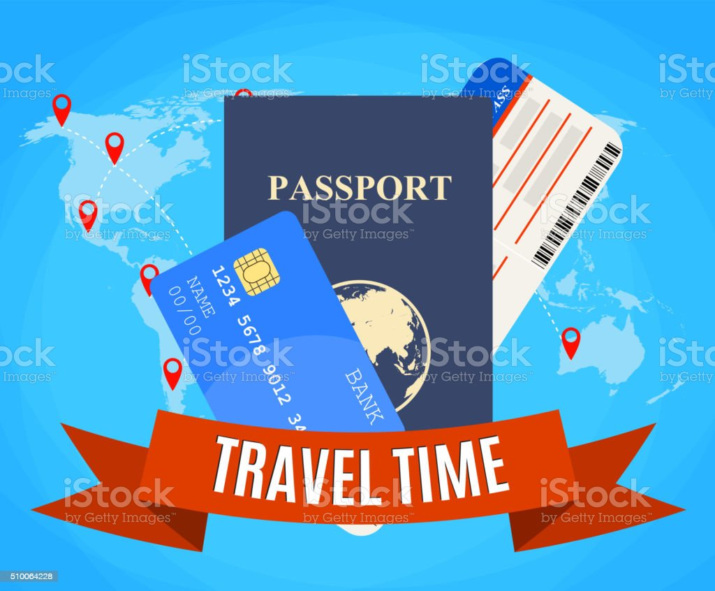 Travel and tourism concept. vector art illustration