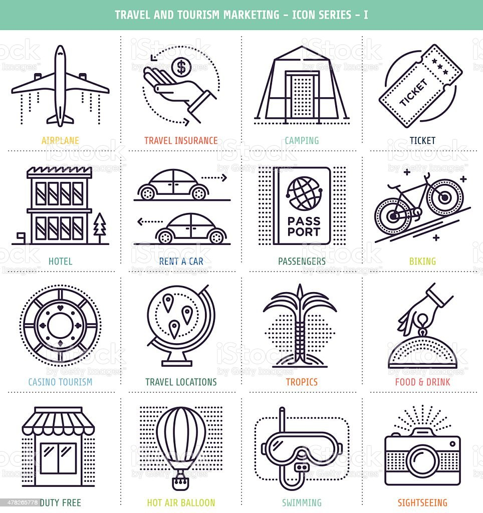 Travel And Tourism Marketing vector art illustration