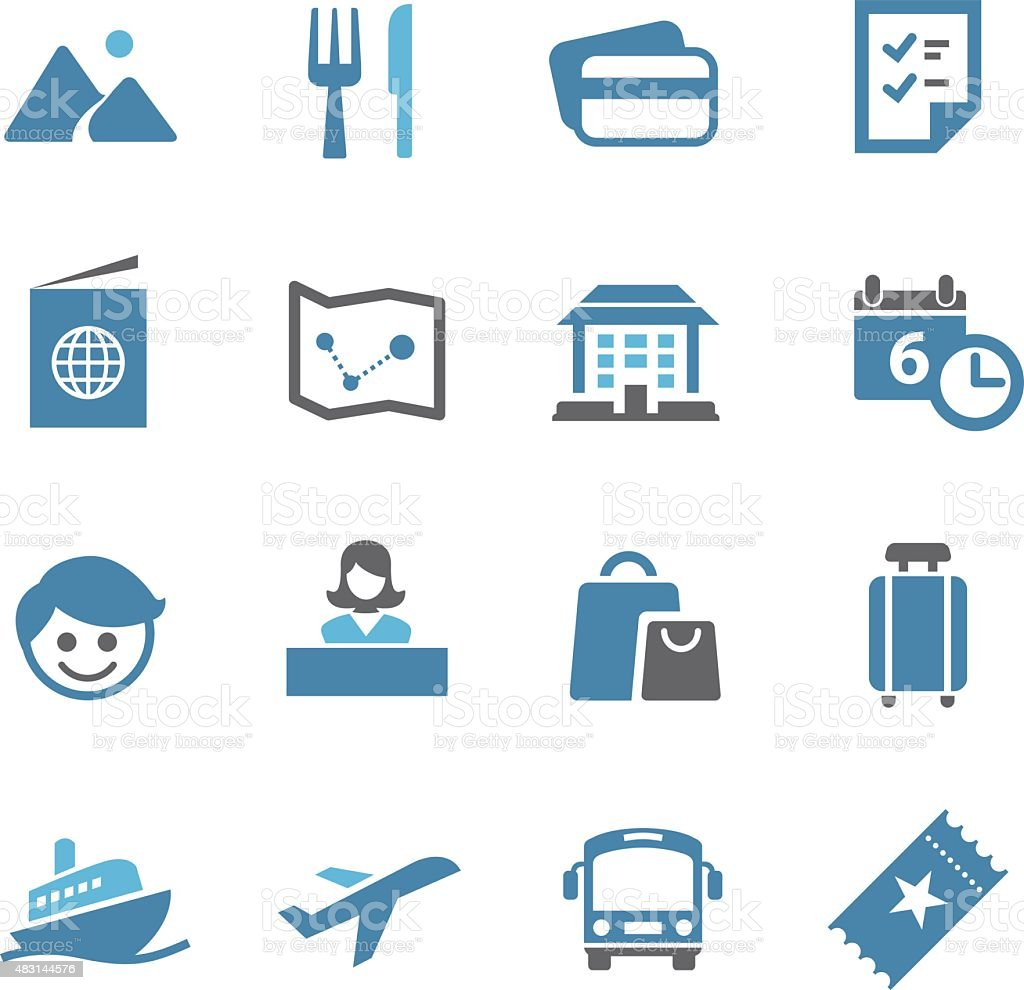 Travel and Vacation - Conc Series vector art illustration