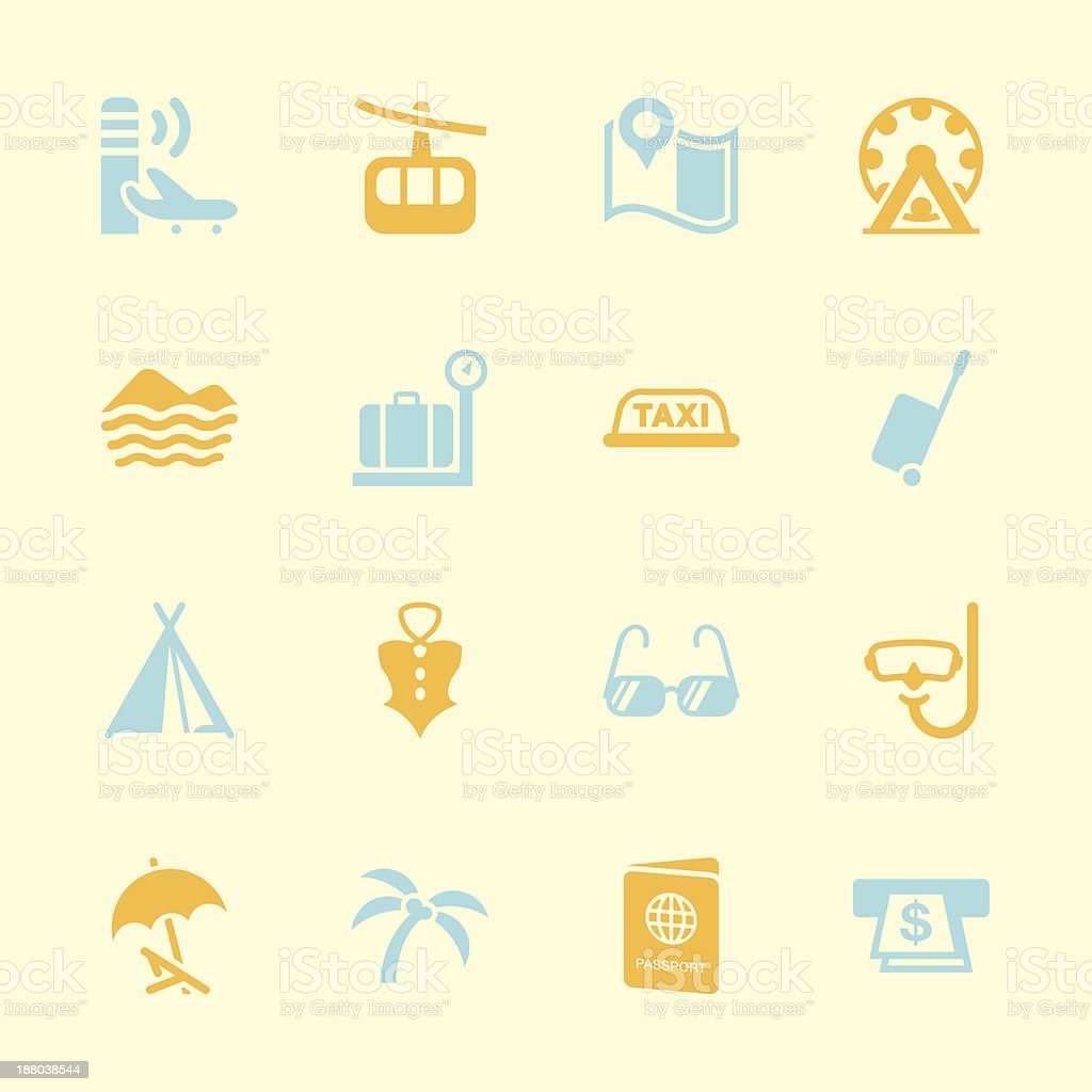 Travel and Vacation Icons 2 - Color Series | EPS10 royalty-free stock vector art