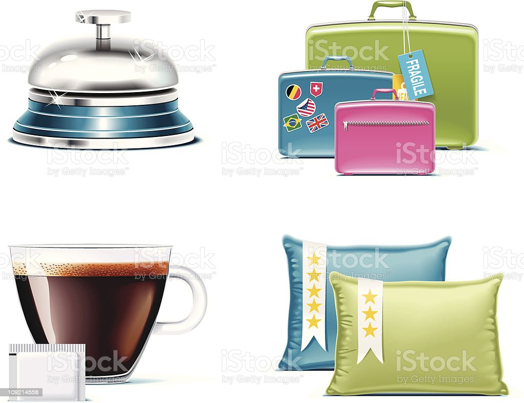 Travel and vacations icons royalty-free stock vector art