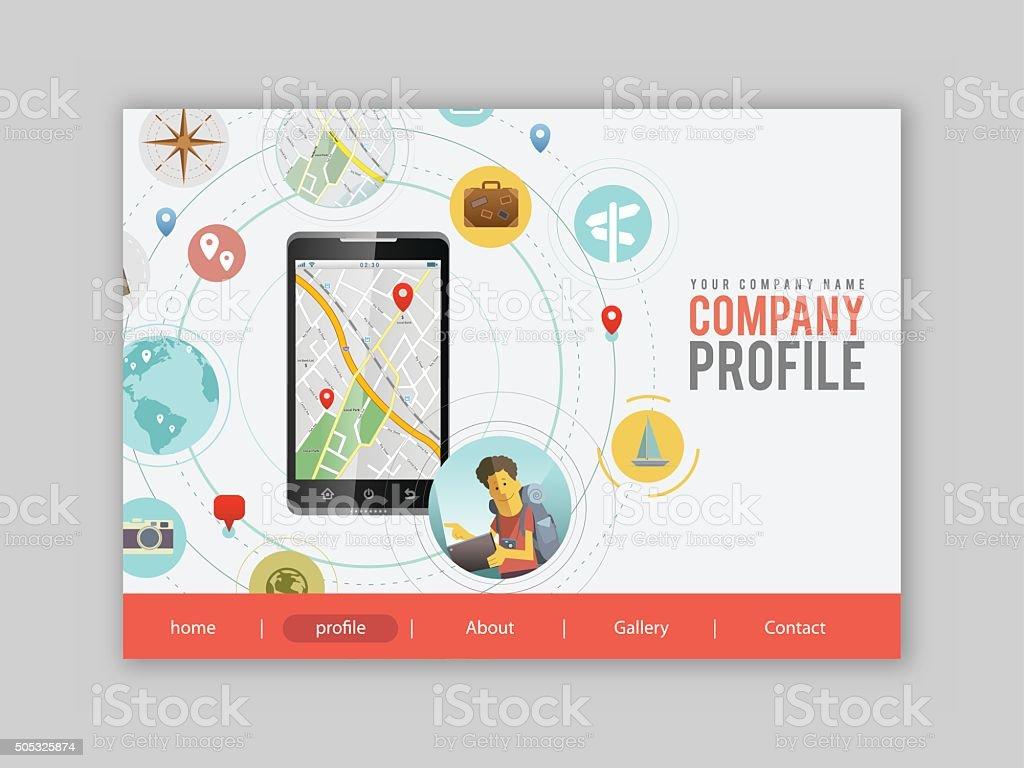Travel App UI vector art illustration