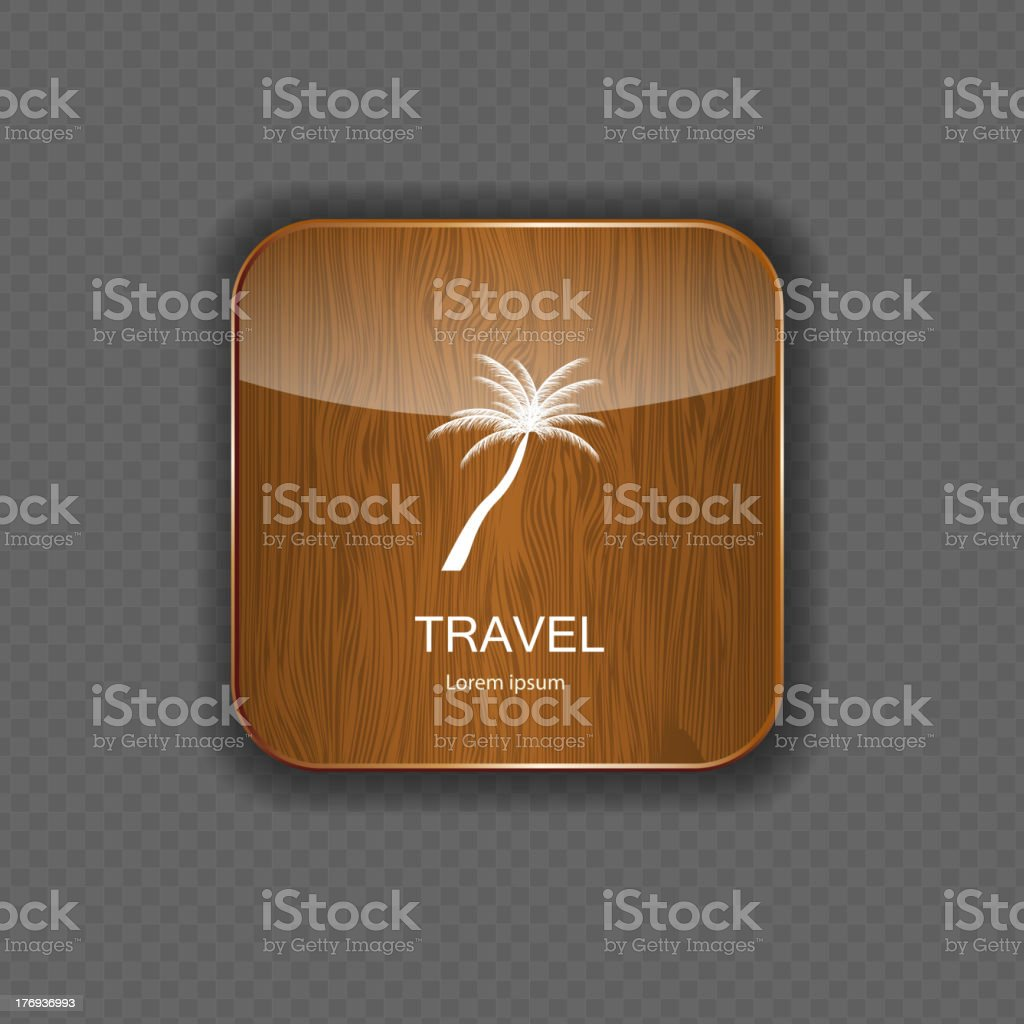Travel application icons vector illustration royalty-free stock vector art