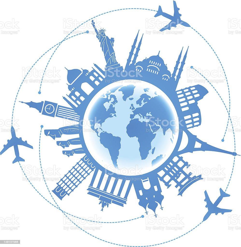 Travel background air vector art illustration
