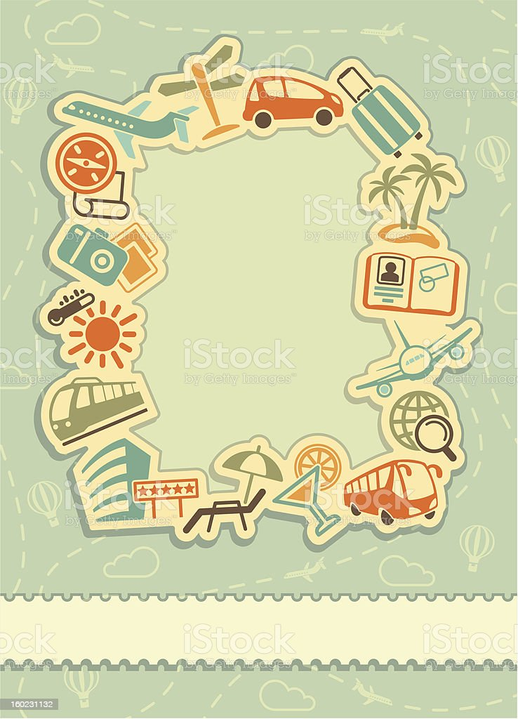 Travel background royalty-free stock vector art