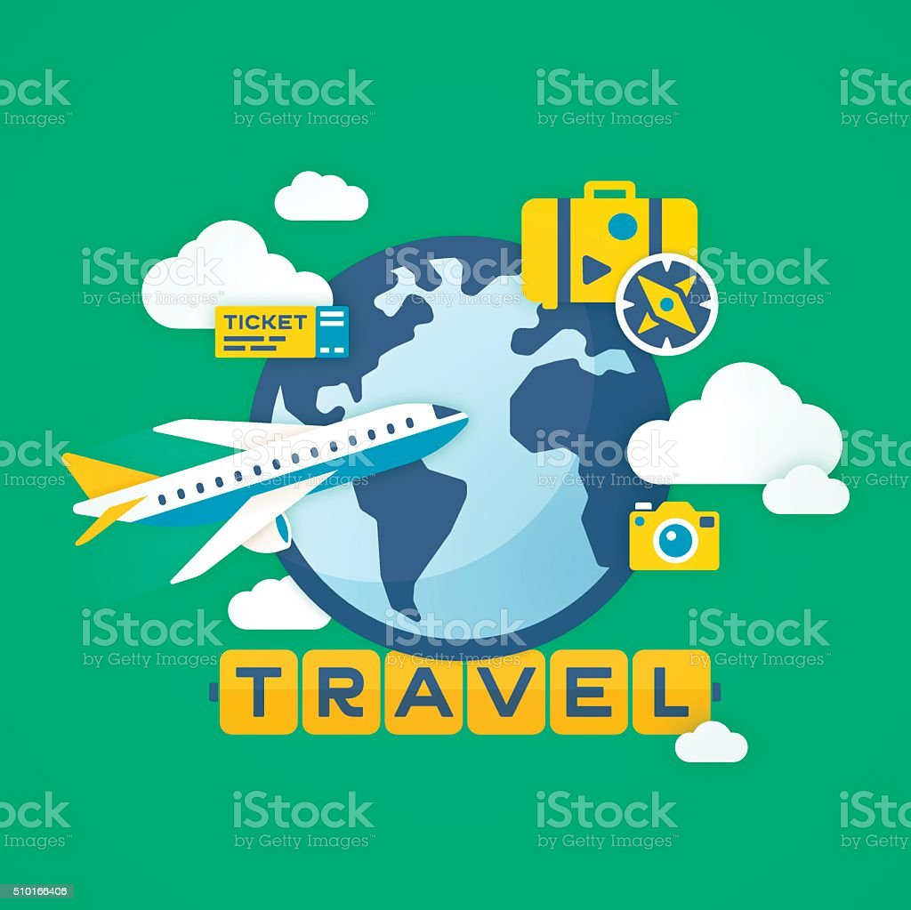 Travel Background vector art illustration