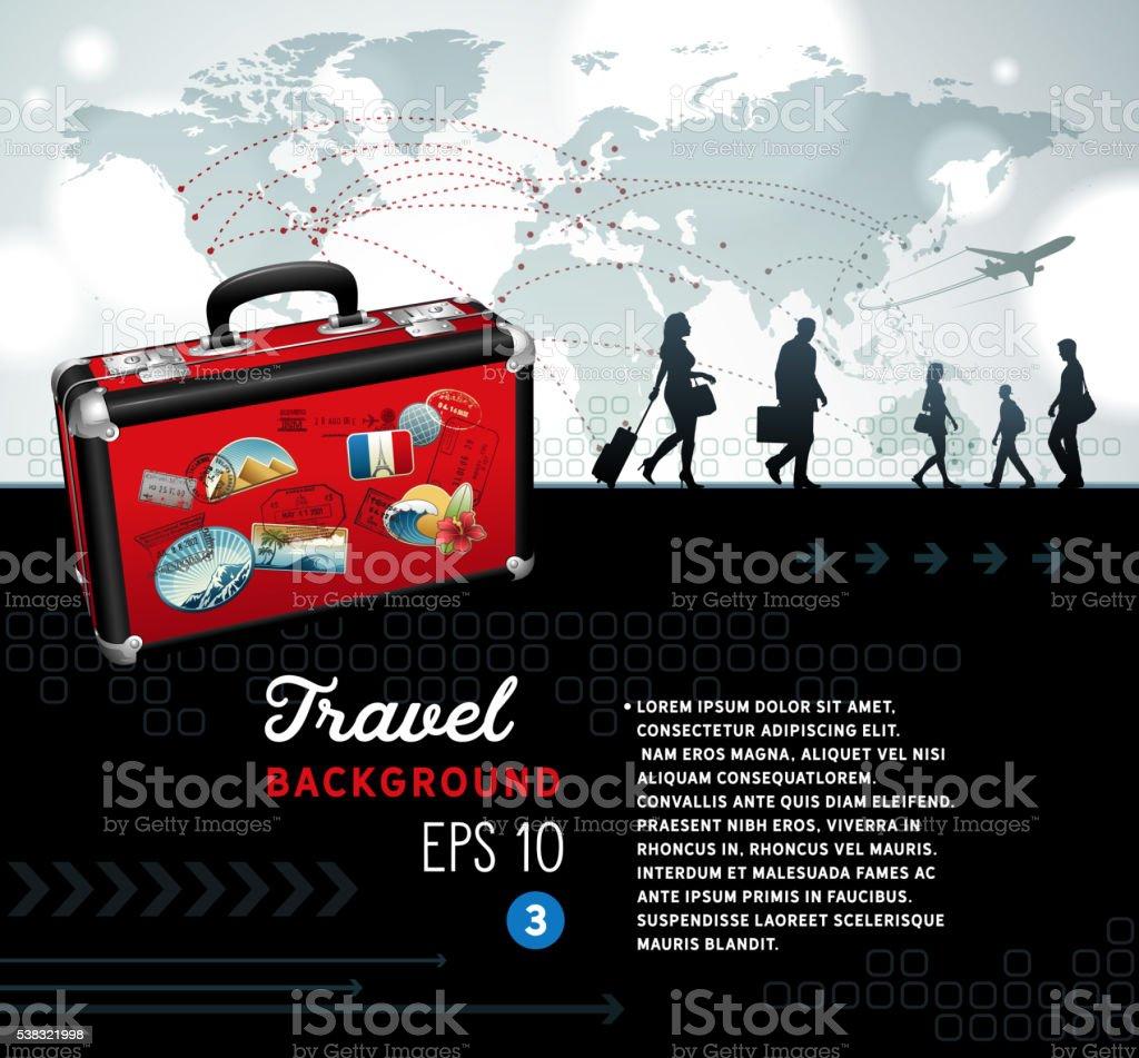 Travel Background vector art illustration