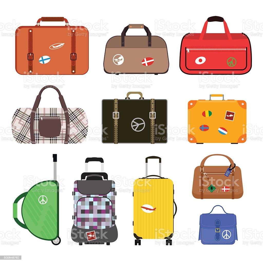 Travel bags vector illustration vector art illustration