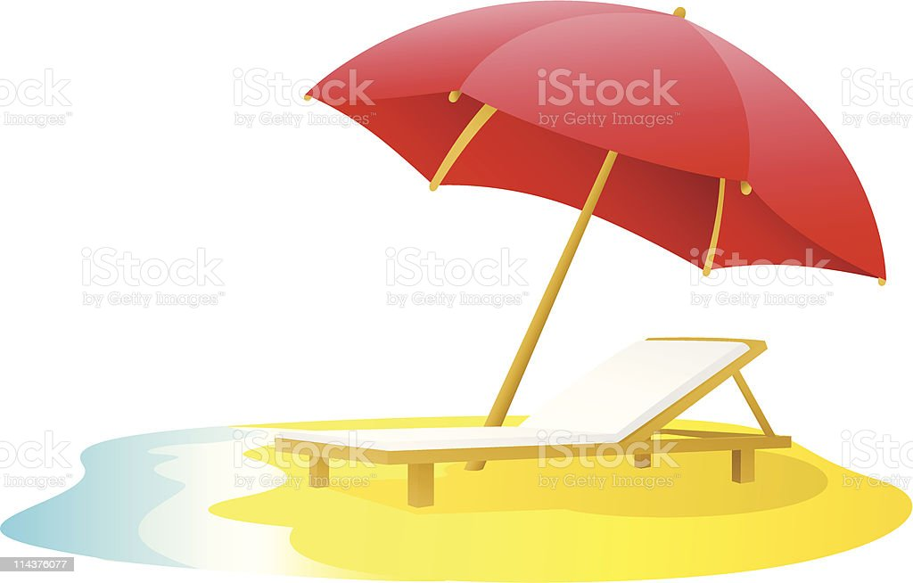 Travel - Beach Chair royalty-free stock vector art
