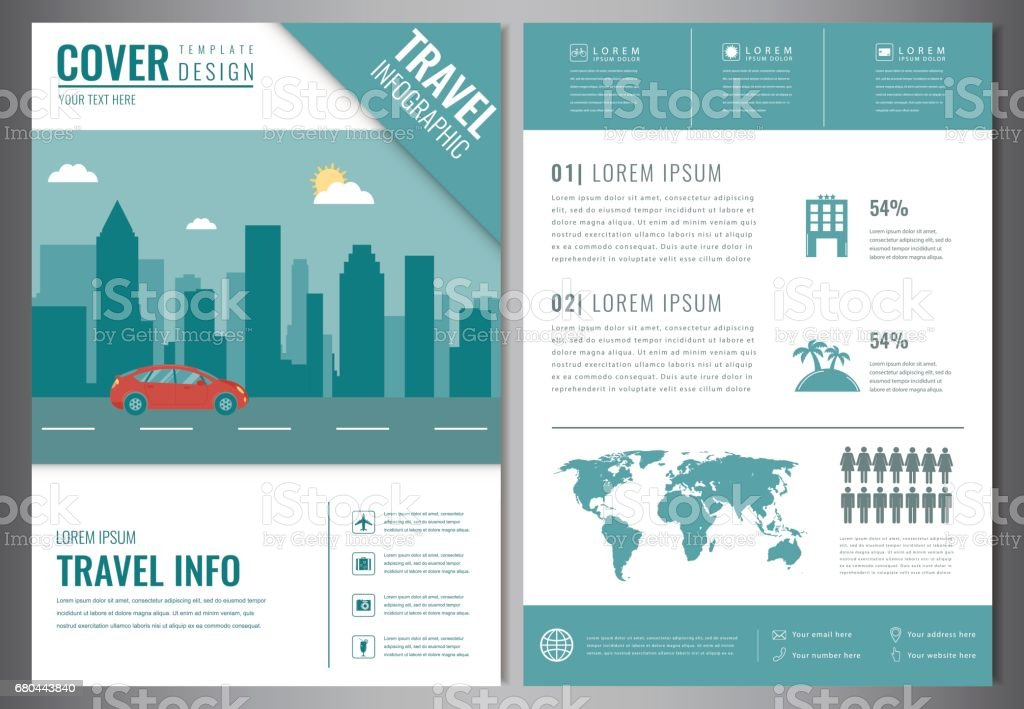 Travel Brochure Design Template Travel And Tourism Concept Vector