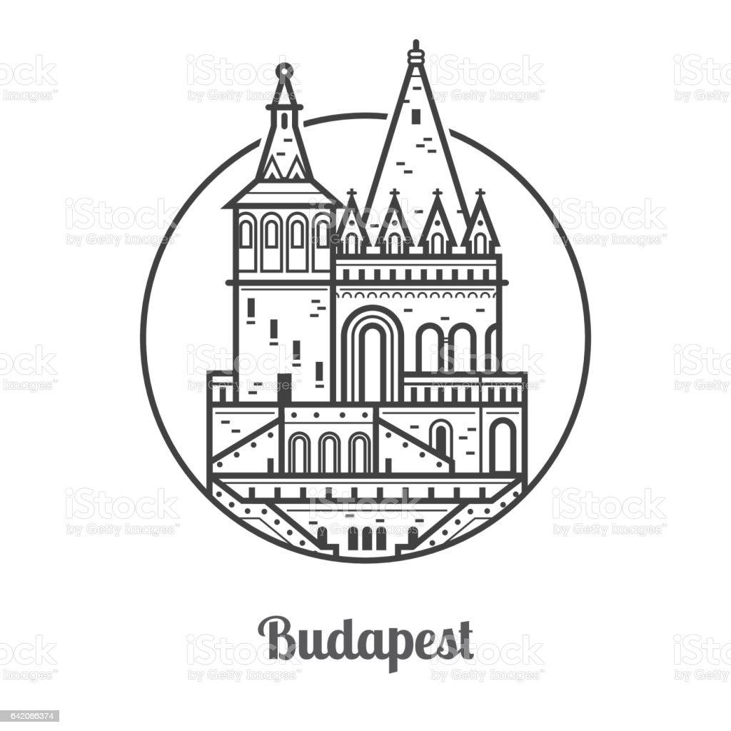 Travel Budapest Icon vector art illustration