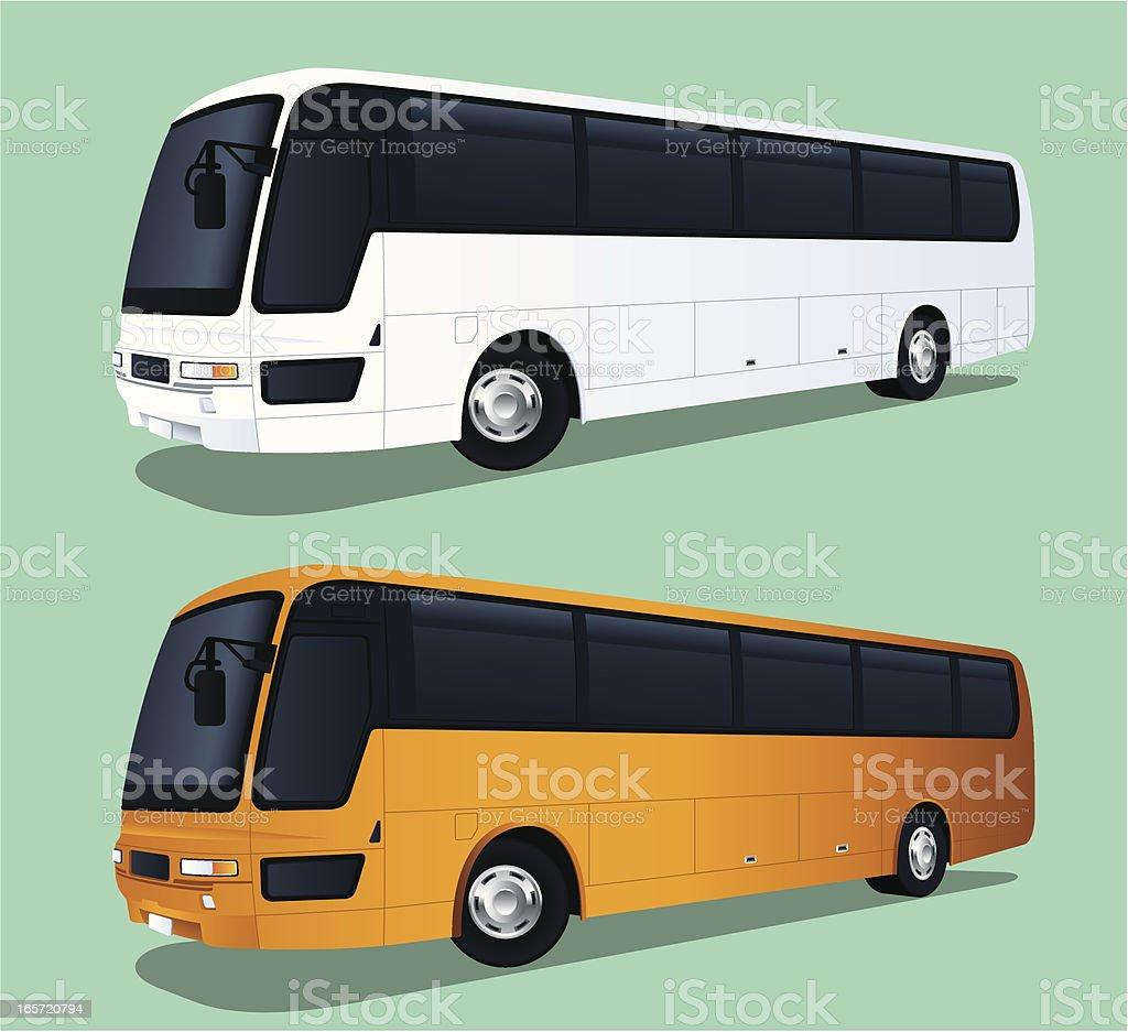 Travel Bus vector art illustration