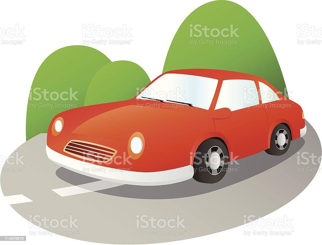 Travel - Car royalty-free stock vector art