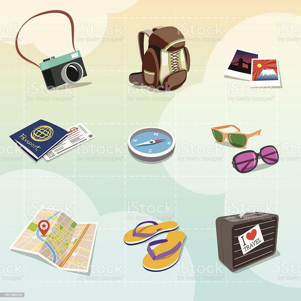 Travel Clipart royalty-free stock vector art