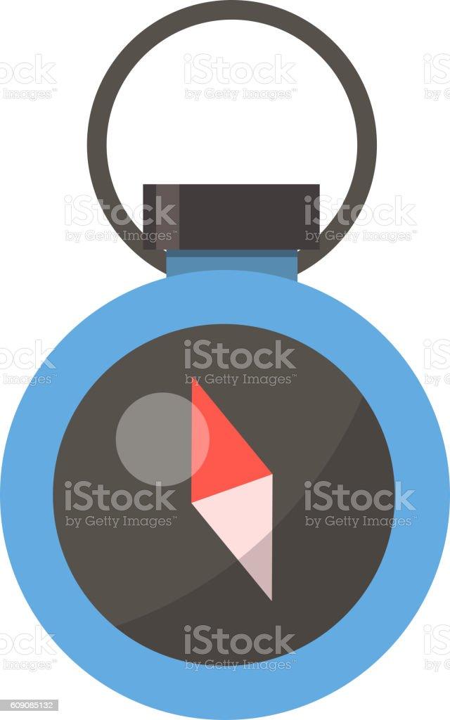 Travel compass vector icon vector art illustration
