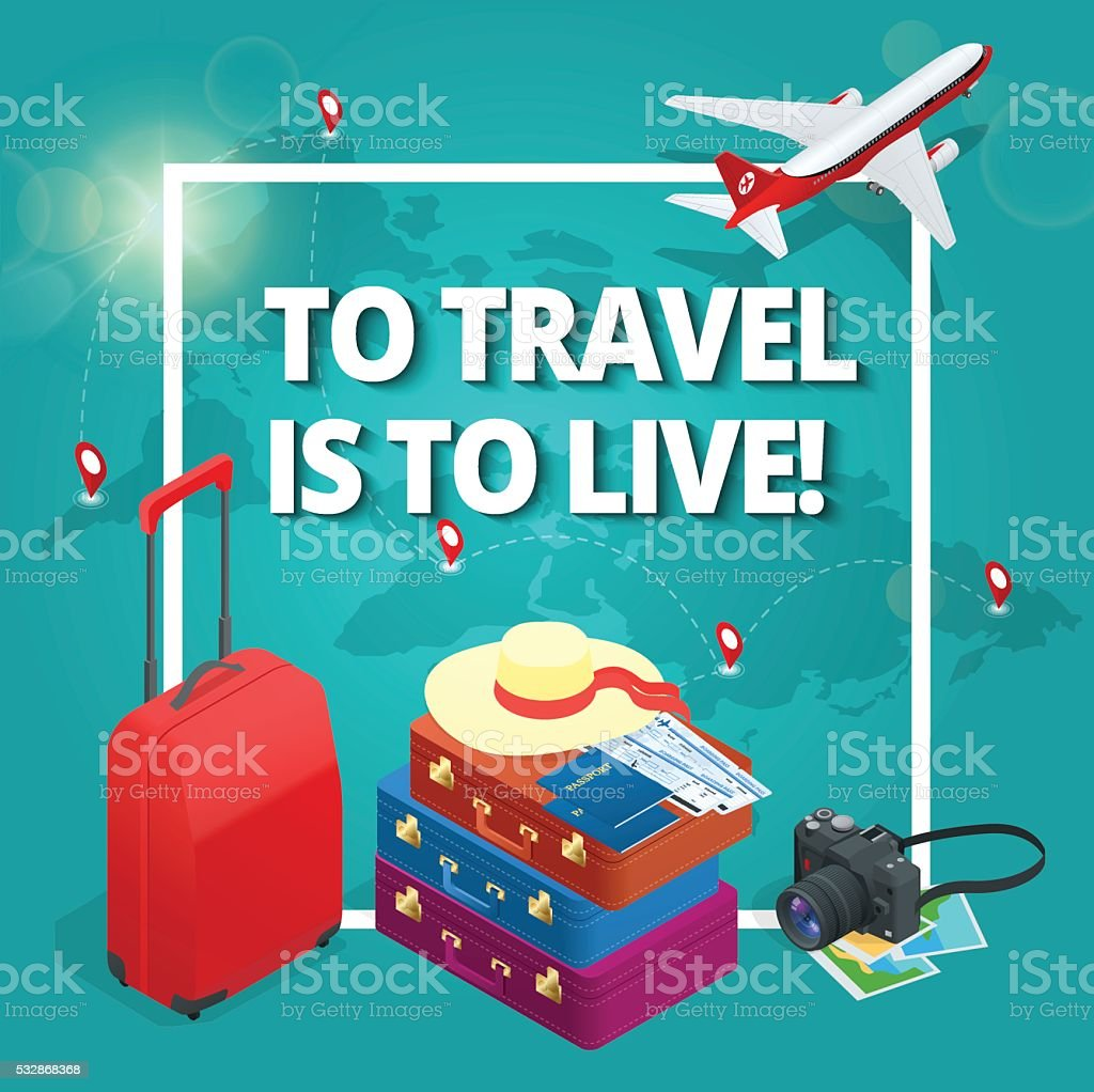 Travel concept. vector art illustration