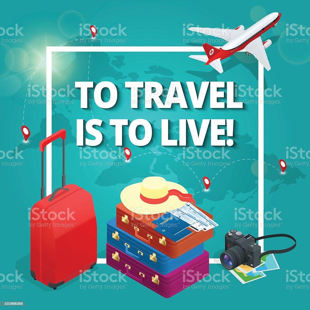 Travel concept. vector art illustration
