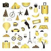 Travel. Cute vector set.