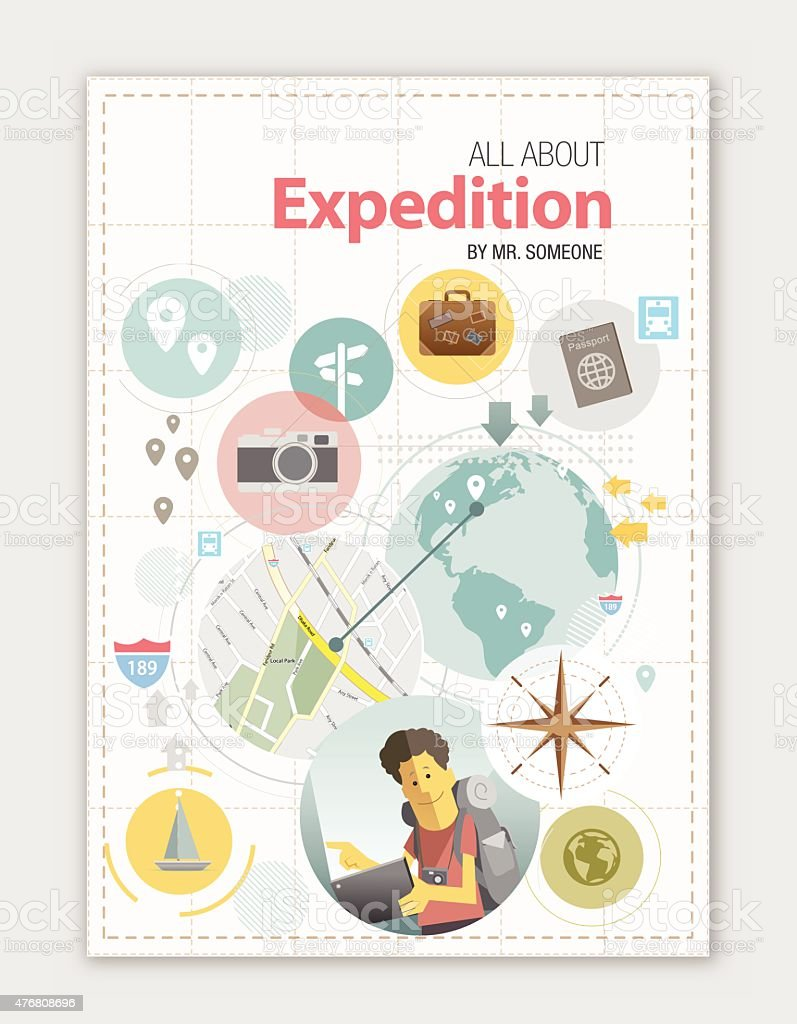 Travel design copy space vector art illustration