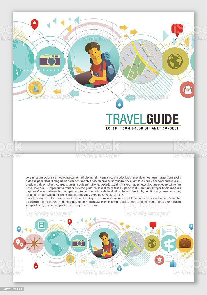 Travel design vector art illustration