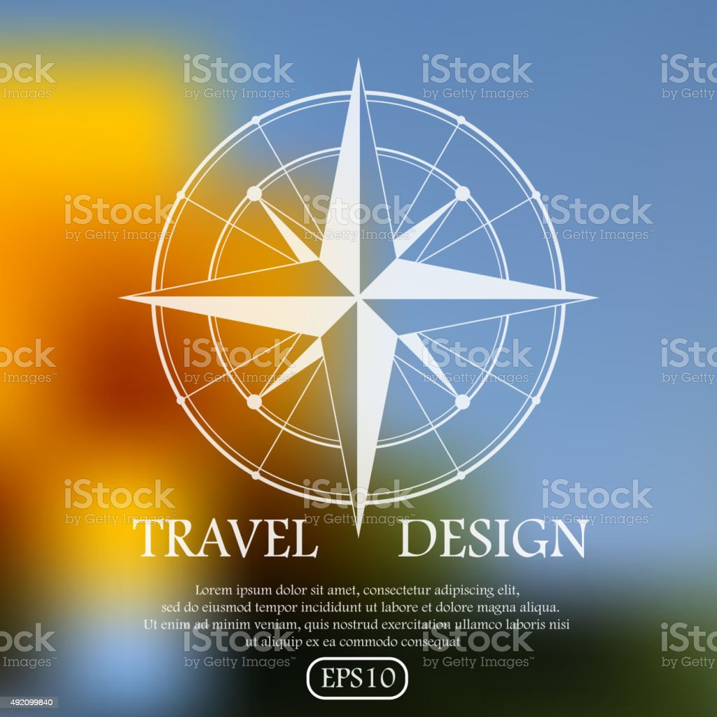 Travel design vector art illustration