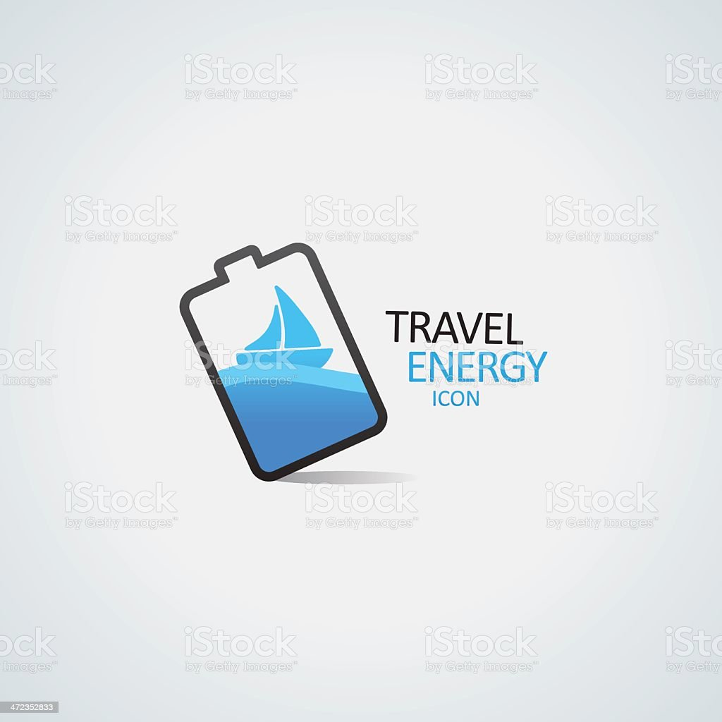 Travel energy icon vector art illustration
