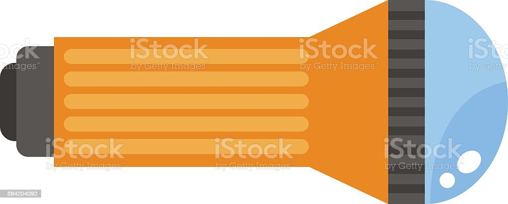Travel flashlight isolated on white vctor vector art illustration