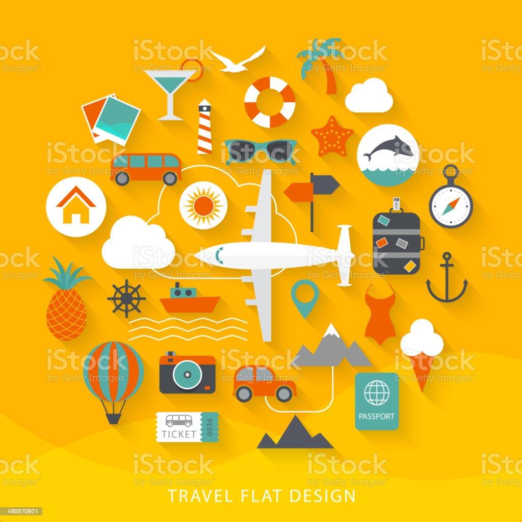 Travel flat design illustration vector art illustration