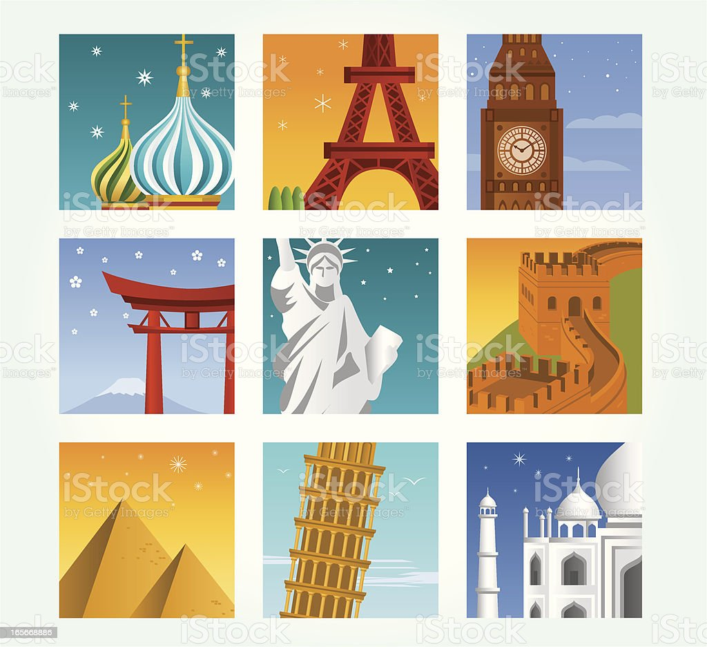 Travel Icon Set royalty-free stock vector art