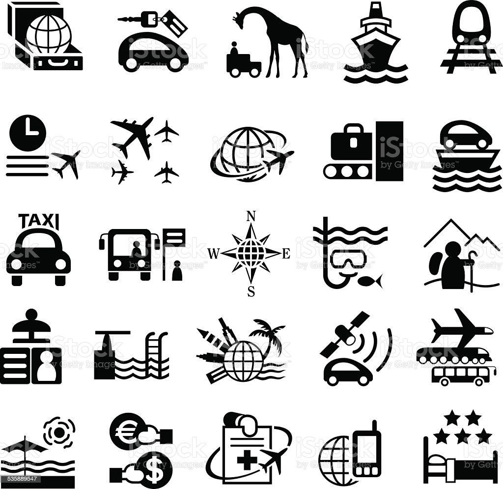 Travel Icon Set vector art illustration