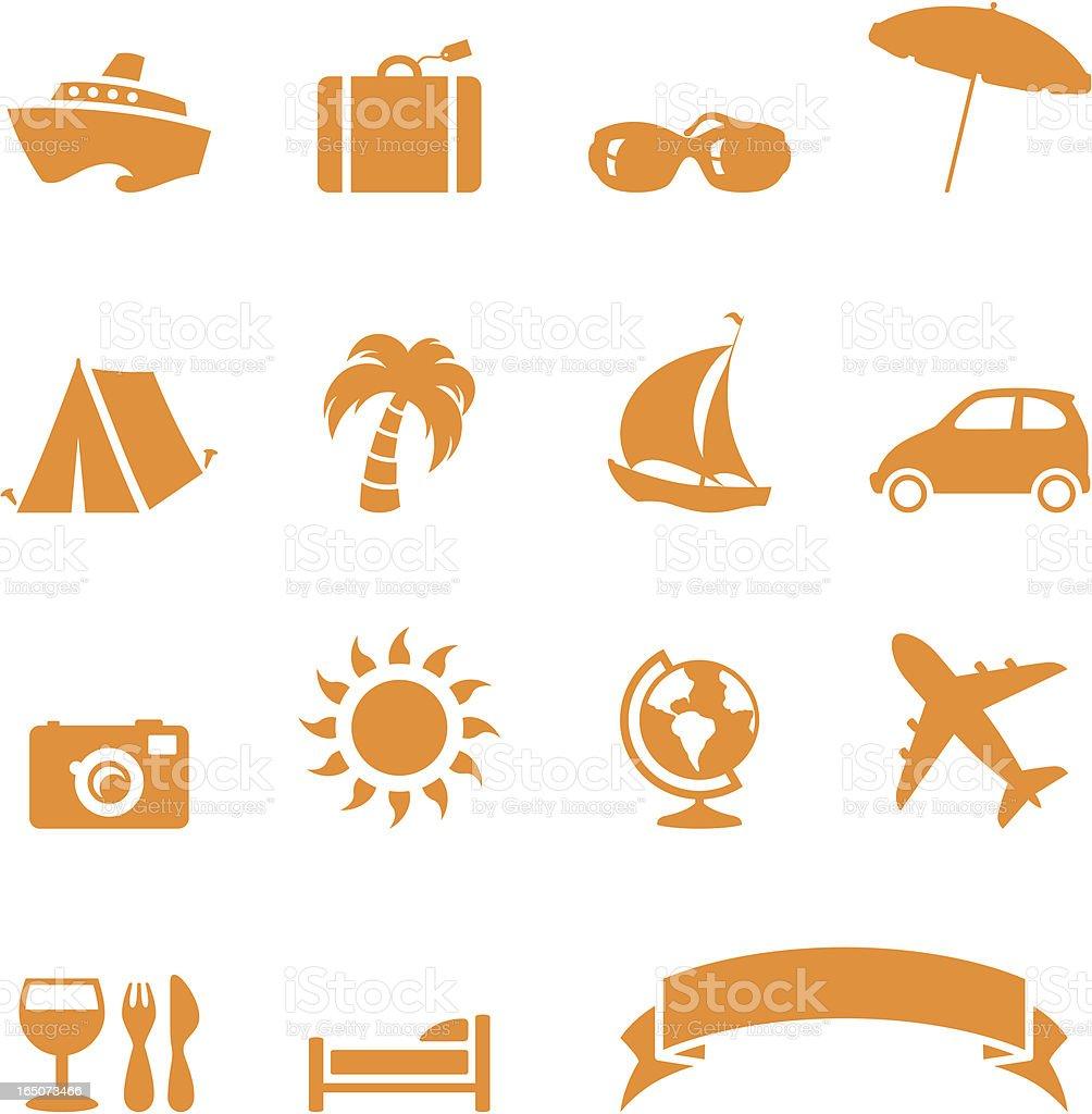 Travel Icons - incl. jpeg royalty-free stock vector art