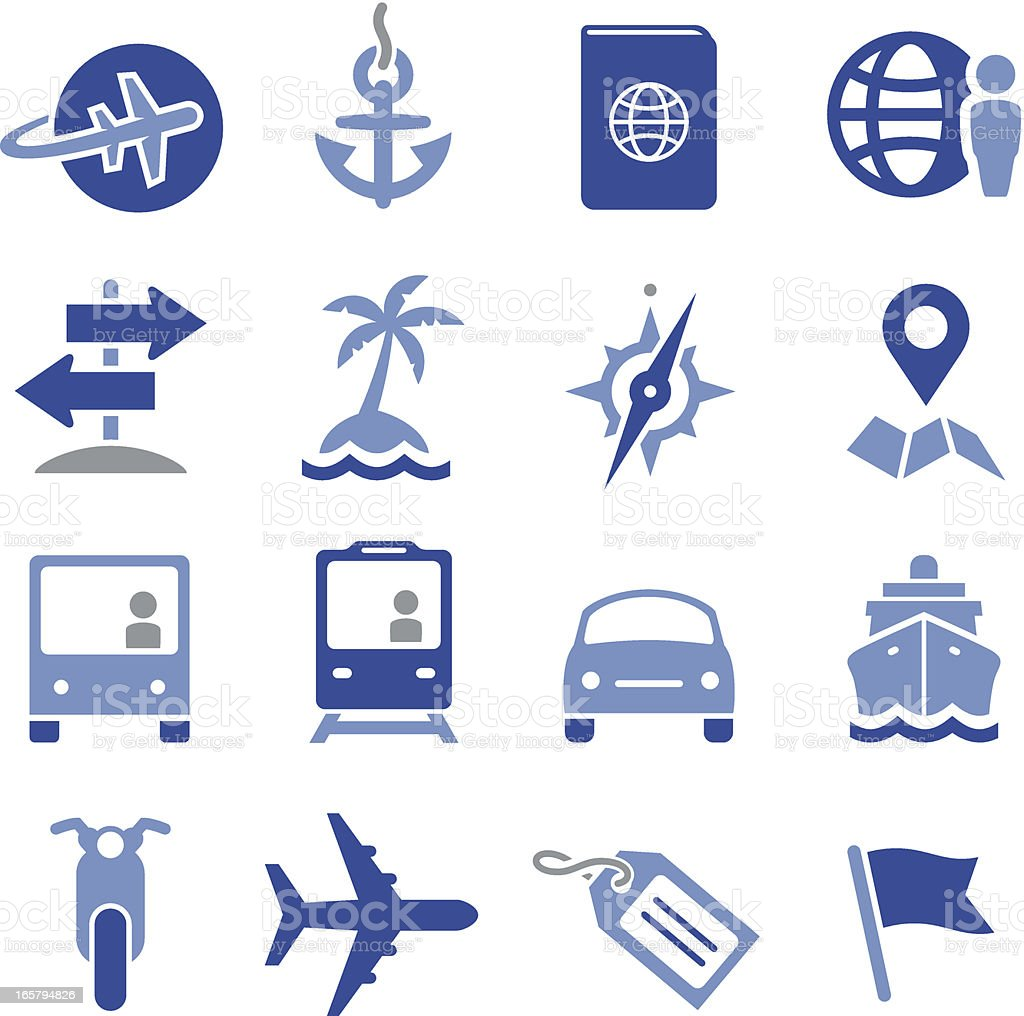Travel Icons - Pro Series royalty-free stock vector art