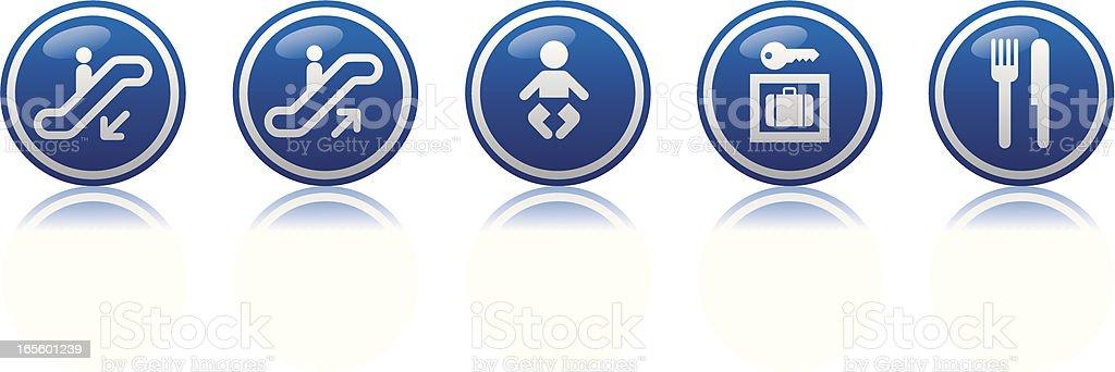 travel icons set 8 royalty-free stock vector art