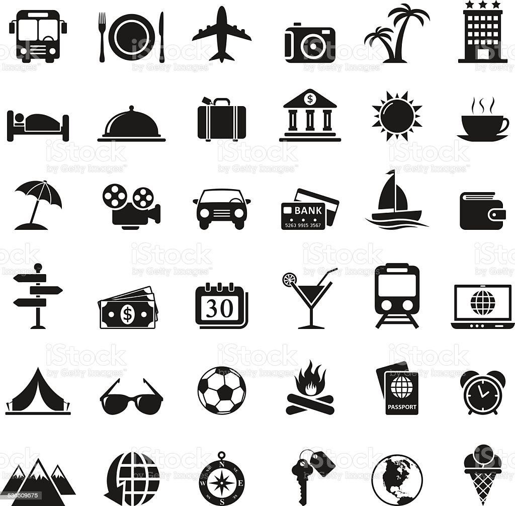 Travel Icons Set royalty-free stock vector art