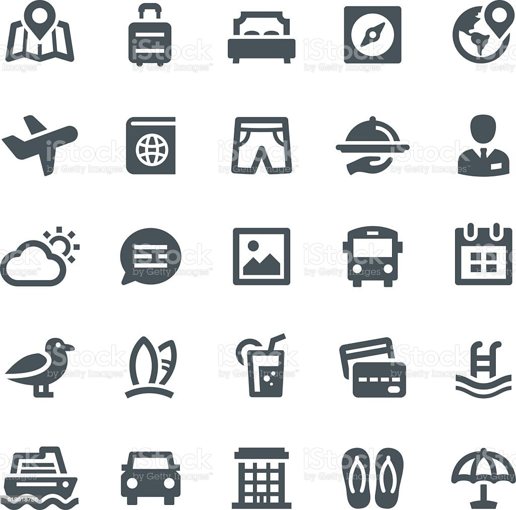 Travel Icons vector art illustration