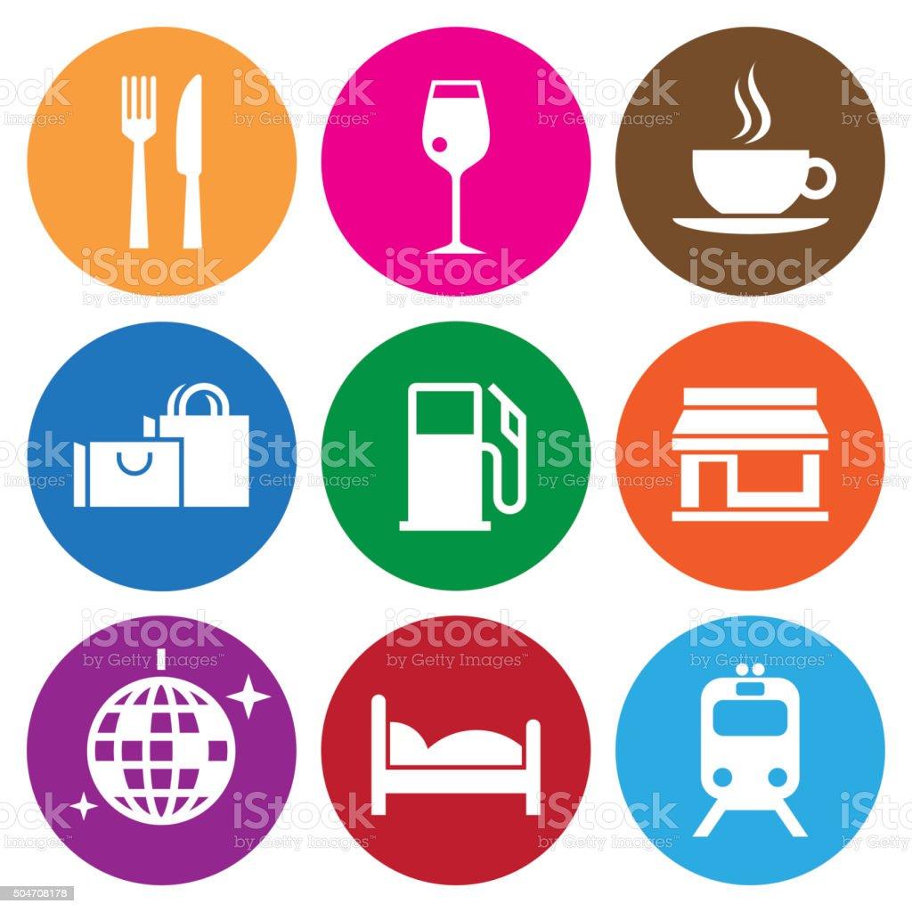 Travel Icons. Vector vector art illustration