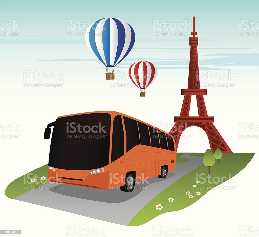 Travel in Paris royalty-free stock vector art