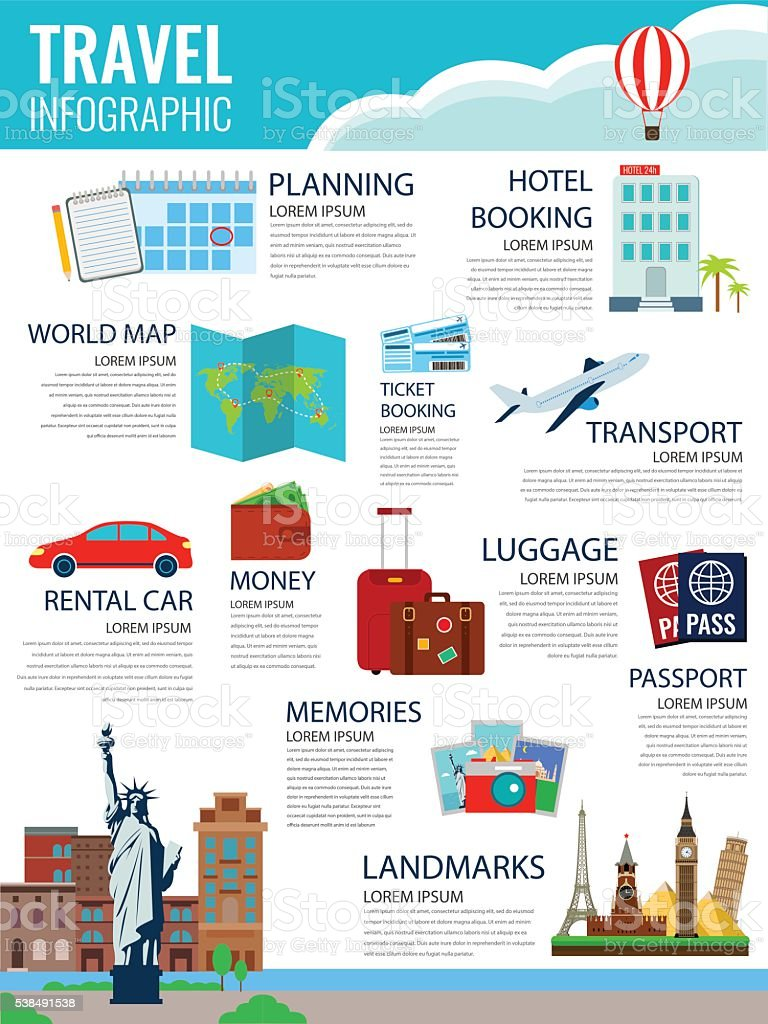 Travel infographic. Infographics for business, web sites, presentations, advertising. royalty-free stock vector art