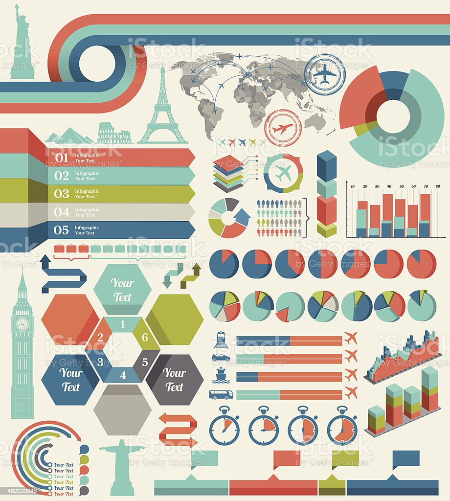 Travel Infographic royalty-free stock vector art