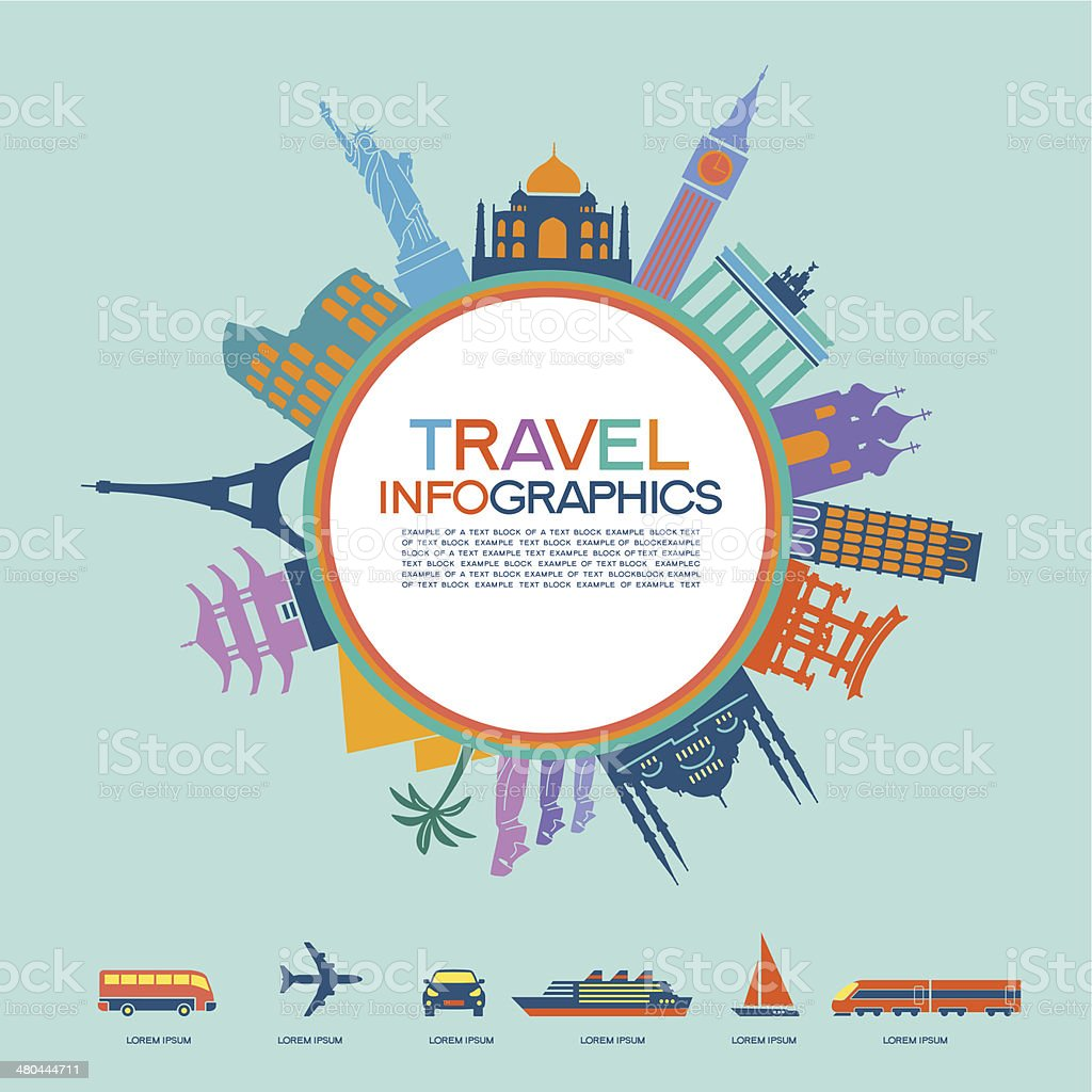 Travel Infographics elements vector art illustration