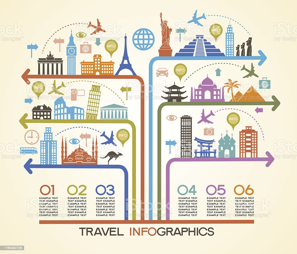 Travel Infographics royalty-free stock vector art
