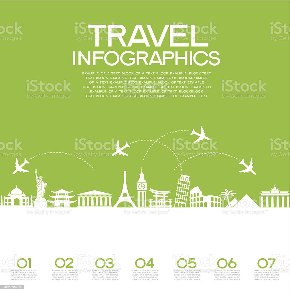 Travel Infographics vector art illustration