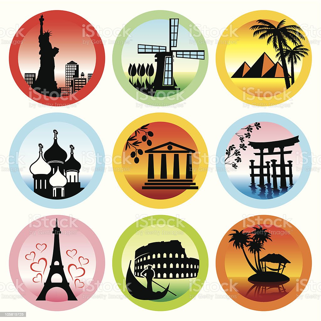 travel landmarks royalty-free stock vector art