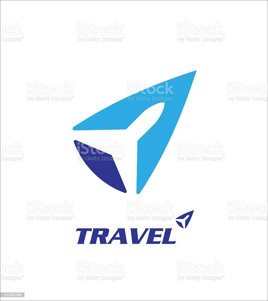 travel logo vector art illustration