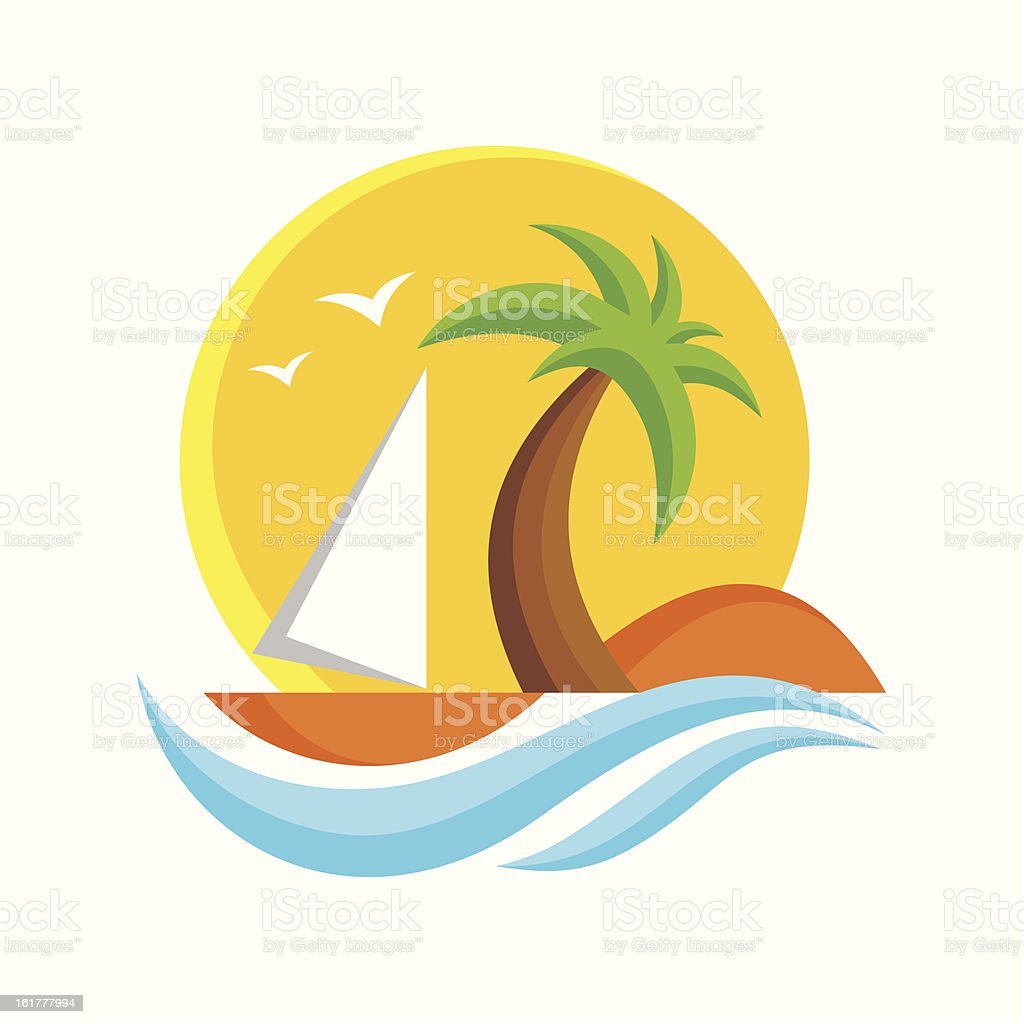 Travel Logo Vector Sign vector art illustration