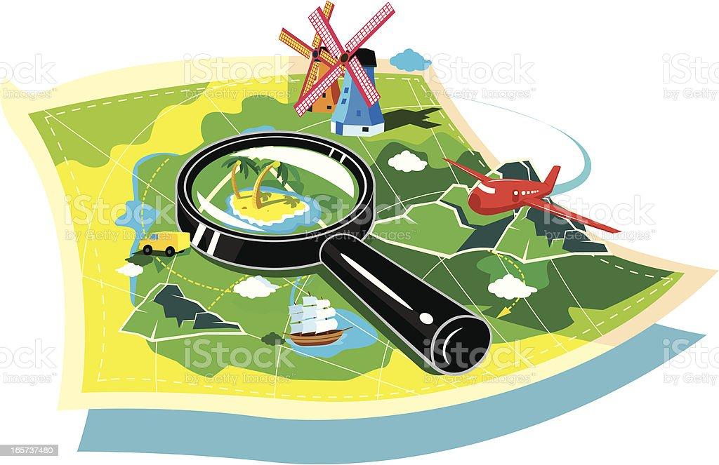 travel map royalty-free stock vector art